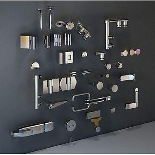 五金配件门锁3d模型