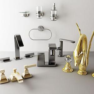 五金水龙头组合模型