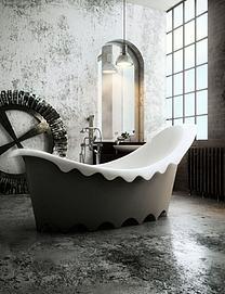 牛奶浴缸模型