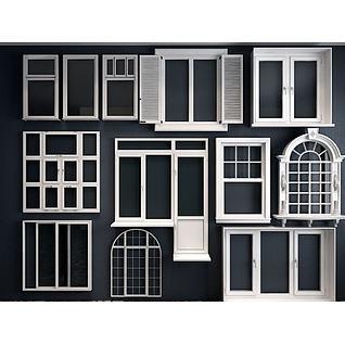 欧式窗户3d模型3d模型