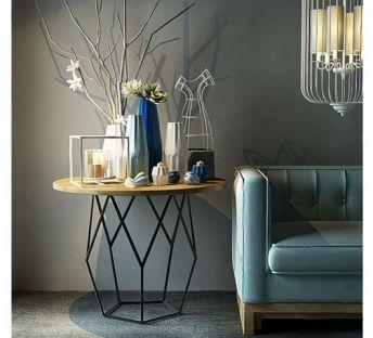现代中式沙发陈设品组合