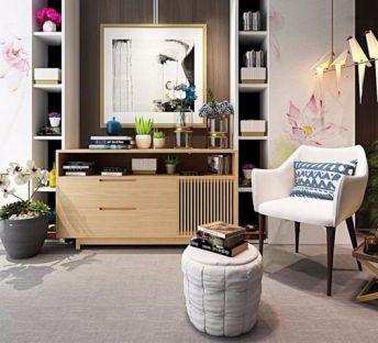 新中式电视柜单椅组合