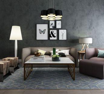 现代组合沙发茶几
