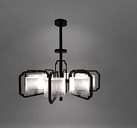 新中式复古吊灯3d模型