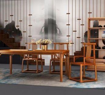 新中式桌椅茶柜