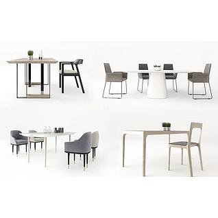 时尚餐桌椅3d模型