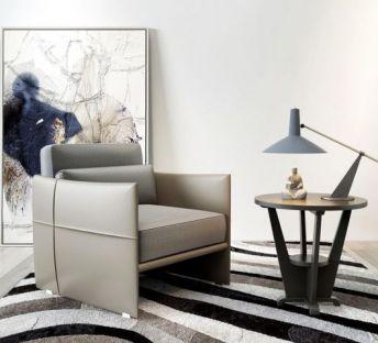 现代时尚单人沙发茶几组合