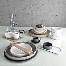 现代时尚餐具模型