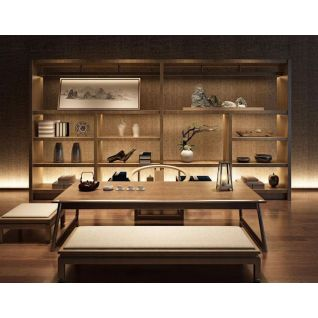 新中式茶室茶柜桌椅组合3d模型3d模型