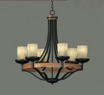 铁艺蜡烛吊灯