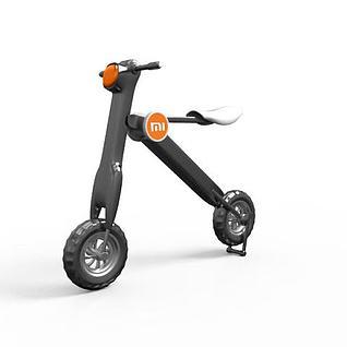 两轮代步折叠电动车3d模型