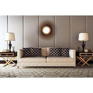 现代沙发饰品组合3d模型
