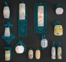 中式古典壁灯模型