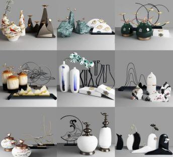 新中式禅意花瓶饰品