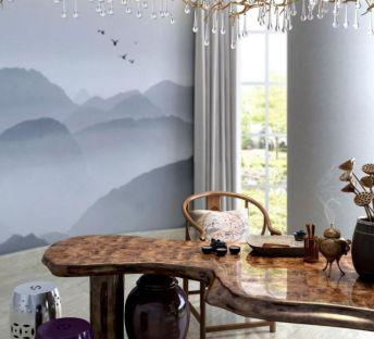 新中式茶桌鼓凳