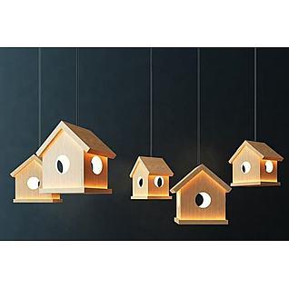 小木屋吊灯3d模型