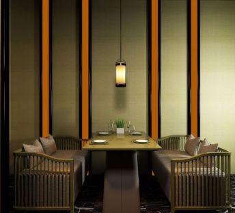 现代中式餐厅桌椅