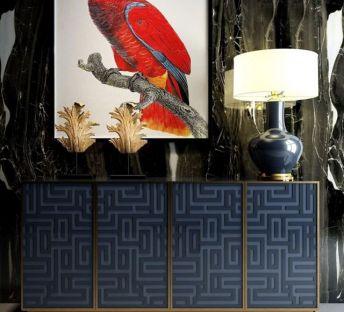现代玄关柜雕塑饰品