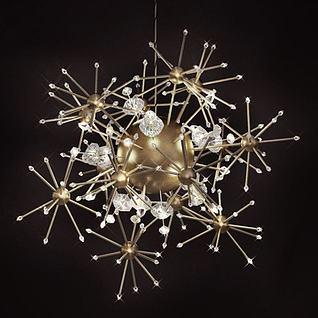 星光吊灯3d模型