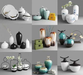 新中式陶瓷罐摆件