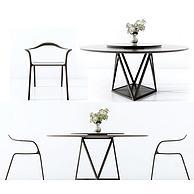 现代休闲桌椅3D模型3d模型