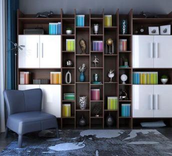 北欧书柜单椅