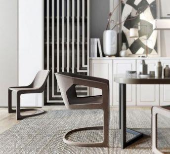 现代餐桌椅边柜组合