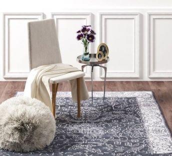 现代单椅毛绒矮凳