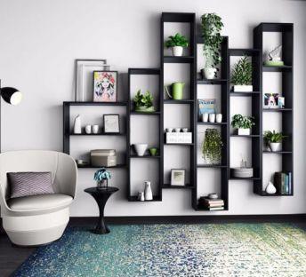 墙壁花架单人沙发组合