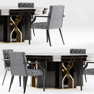 简欧<font class='myIsRed'>餐桌</font>椅3d模型