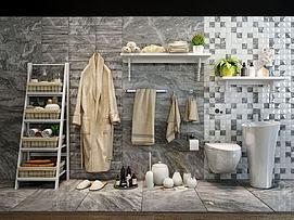 浴室小件模型