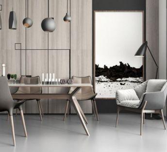 现代餐厅餐桌椅