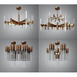 奢华吊灯3d模型