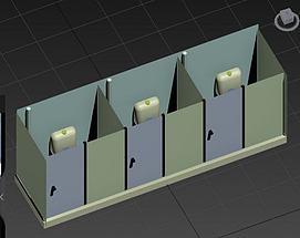 室内公共厕所模型