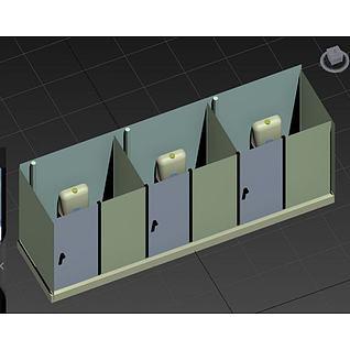室内公共厕所3d模型