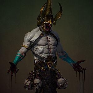 3d3D游戲角色怪物模型