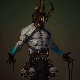 3D游戏角色怪物3d模型
