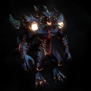 3d游戲角色怪物模型