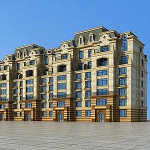歐式住宅公寓模型3d模型