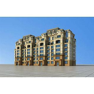 欧式住宅公寓3d模型