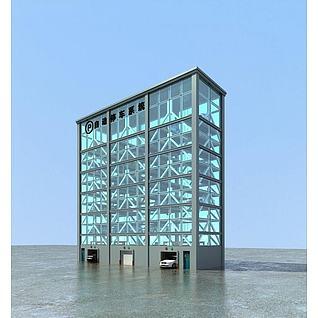 立体停车场3d模型