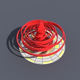 广场雕塑3d模型