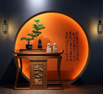 新中式玄关柜