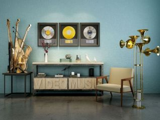 音樂主題家具飾品3d模型