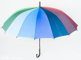 彩虹色雨伞模型
