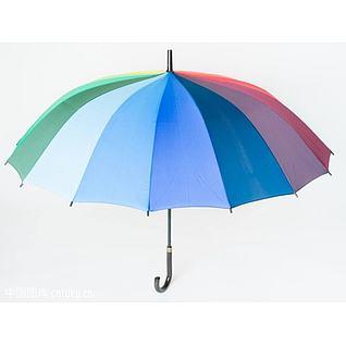 彩虹色雨伞3d模型3d模型