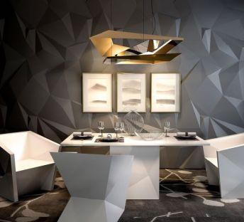 几何造型餐桌椅