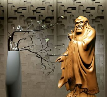 中式孔子雕塑