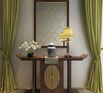 中式玄关柜饰品组合