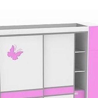 小型推拉门衣柜3d模型